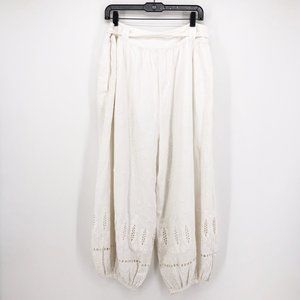 Free People Pants & Jumpsuits - Free People Delilah Bell Pants Harem Eyelet Jogger